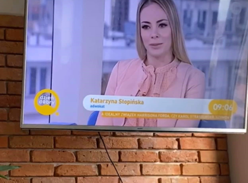 Katarzyna Stopińska in the Good morning TVN tv show!